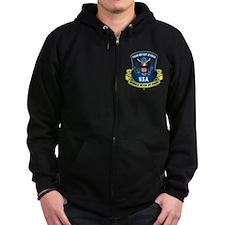 Elite One Percent Zip Hoodie (dark)