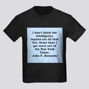 john f kennedy quote Kids Dark T-Shirt