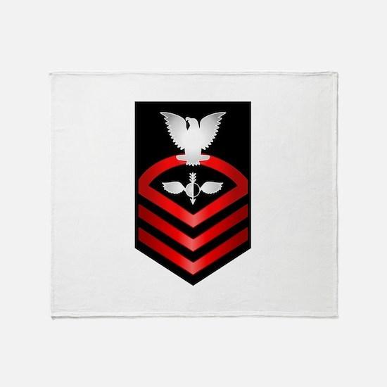 Navy Chief Aerographer Throw Blanket