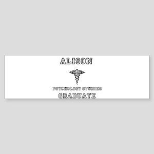 Alison Psych Grad Sticker (Bumper)