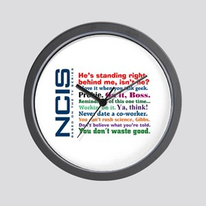 NCIS Quotes Wall Clock