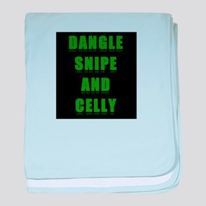 Dangle Snipe and Celly baby blanket