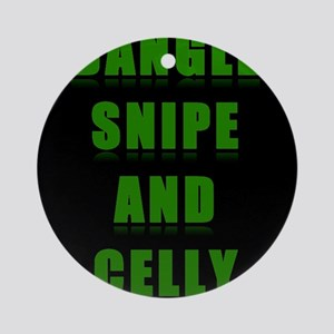 Dangle Snipe and Celly Ornament (Round)