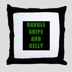 Dangle Snipe and Celly Throw Pillow