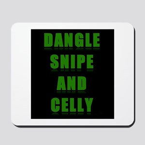Dangle Snipe and Celly Mousepad