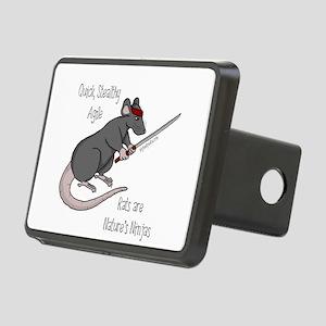 Rats are Nature's Ninjas Rectangular Hitch Cover