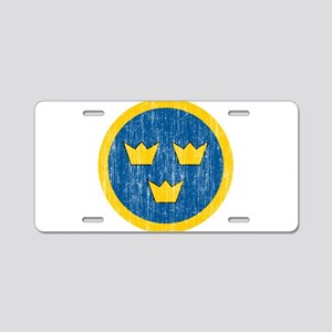 Sweden Roundel Aluminum License Plate
