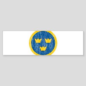 Sweden Roundel Sticker (Bumper)