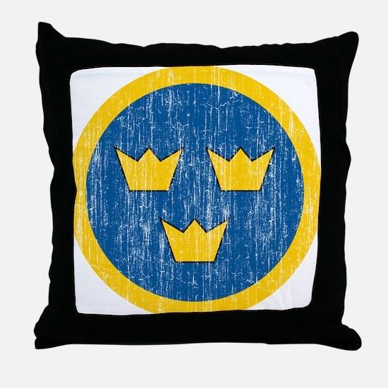Sweden Roundel Throw Pillow