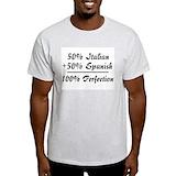 Half italian half spanish Light T-Shirt