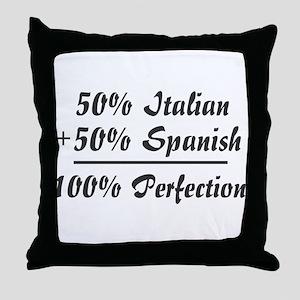 Half Italian, Half Spanish Throw Pillow