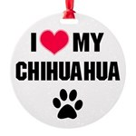 Chihuahua Round Ornament