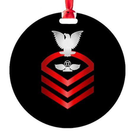 Navy Chief Air Traffic Control Round Ornament