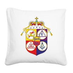 York Rite Shield Square Canvas Pillow