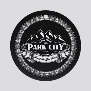 Park City Mountain Emblem Ornament (Round)