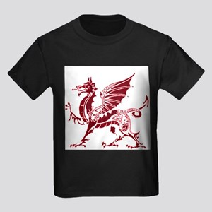 Two tone red and white dragon Kids Dark T-Shirt