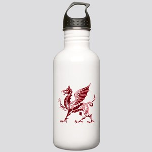 Two tone red and white dragon Stainless Water Bott