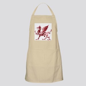 Two tone red and white dragon Apron