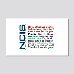 NCIS Quotes Car Magnet 20 x 12
