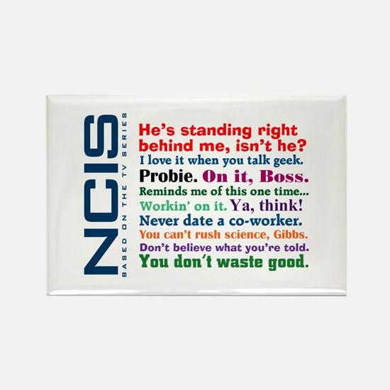 NCIS Quotes Rectangle Magnet
