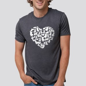 Pembroke Welsh Corgi Heart  Mens Tri-blend T-Shirt