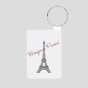 Eiffel Tower Aluminum Photo Keychain
