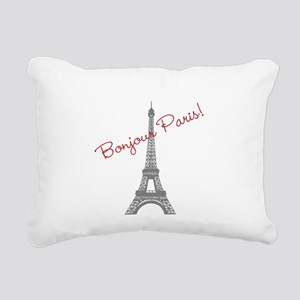 Eiffel Tower Rectangular Canvas Pillow