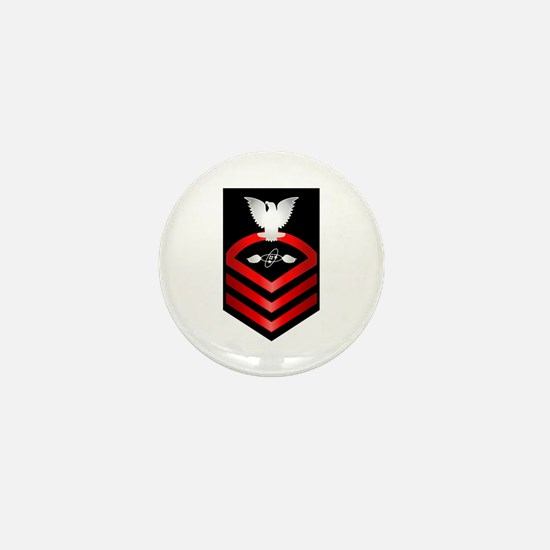 Navy Chief Aviation Electronics Tech Mini Button