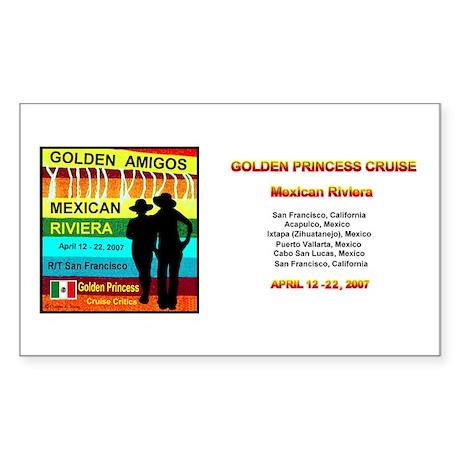 Golden Amigos -Apr. 12, 2007 Rectangle Sticker