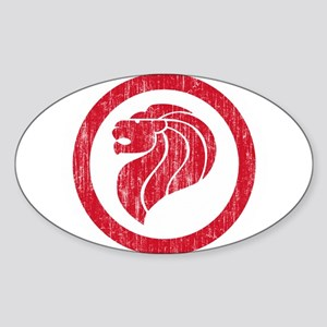 Singapore Roundel Sticker (Oval)
