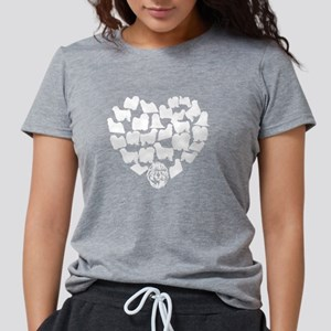 Puli Heart T-shirt Womens Tri-blend T-Shirt