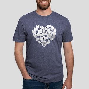 Puli Heart T-shirt Mens Tri-blend T-Shirt