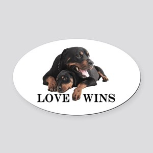 Rottie Oval Car Magnet