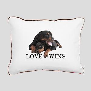 Rottie Rectangular Canvas Pillow