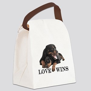 Rottie Canvas Lunch Bag