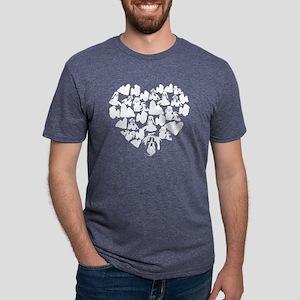 Shih Tzu Heart T-shirt Mens Tri-blend T-Shirt