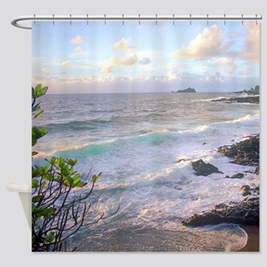 Hana Tropical Sunset Maui Shower Curtain