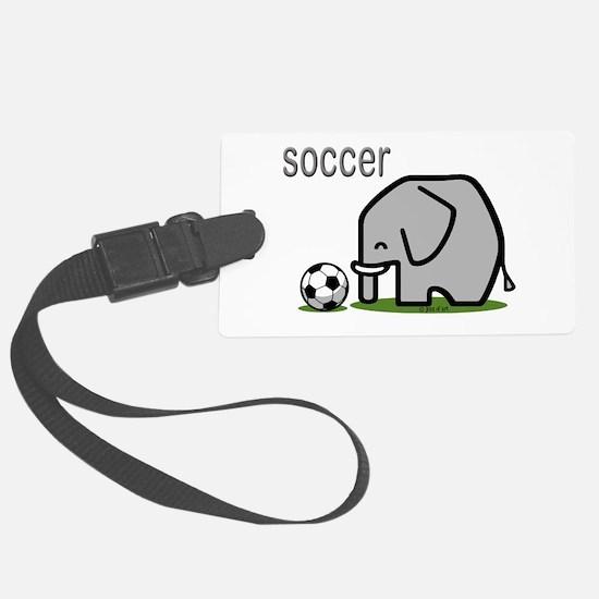 Soccer Elephant (2) Luggage Tag