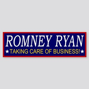 Romney Ryan Taking Care of Business Sticker (Bumpe