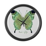 Viable Butterfly Large Wall Clock