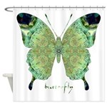 Viable Butterfly Shower Curtain