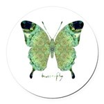 Viable Butterfly Round Car Magnet