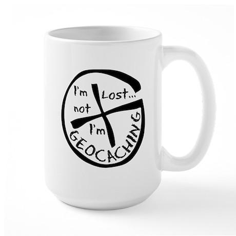 Im Not Lost...Im Geocaching Large Mug