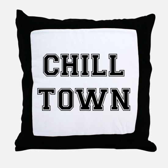 Chill Town Throw Pillow
