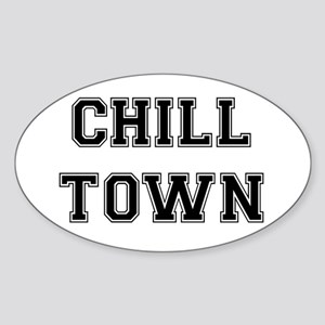 Chill Town Oval Sticker