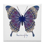 Insomnia Butterfly Tile Coaster