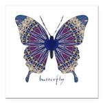 Insomnia Butterfly Square Car Magnet 3