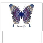 Insomnia Butterfly Yard Sign
