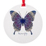 Insomnia Butterfly Round Ornament