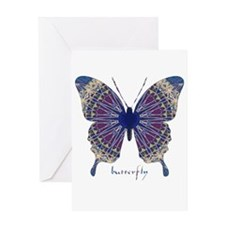 Insomnia Butterfly Greeting Card